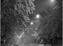 1ère tempête de neige sur Montréal